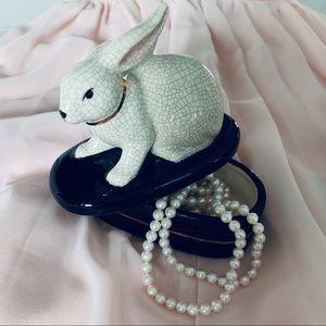 Tadashi Porcelain Rabbit Trinket Box